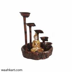 Circular Step Diya Fountain With Buddha Statue