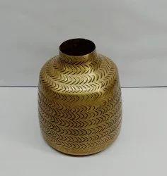 Golden Flower Vase