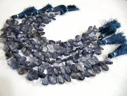 Natural Iolite Pear Shape Briolette Beads 5x8mm To 6x10mm Sold Per Strand