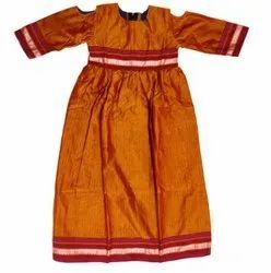 Handloom khun Kids Party Wear Dress