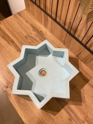 Concrete Basin SURI, Designer Washbasin, Bathroom Basin