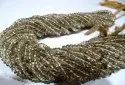 Natural Brown Topaz Rondelle Plain Smooth 3-4mm Beads Sold Per Strand