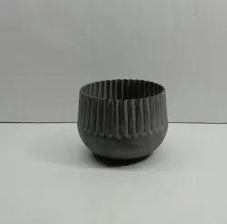 Unique Hand Painted Iron Vase