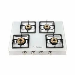 LPG Gas Hindware Cooktop Lorenzo White 4B, For HOME