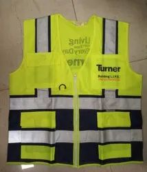 Polyester Yellow Safety Jacket