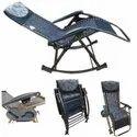 Folding Gravity Reclining Rocking Chair-Brown-08