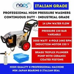 220 Bar Italian Grade High Pressure Water Jet Cleaner Continuous Duty Industrial Grade