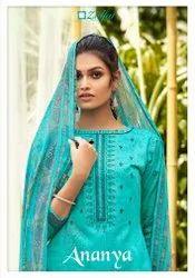 Shivkrupa Enterprise Party Wear Single Zulfat Designer Suits Ananya Pure Jam Cotton Salwar Kameez