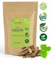 A D Food & Herbs Organic Dried Giloy / Amrita / Guduchi / Tinospora Cordifolia Stem