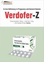 Ferrous Ascorbate  100mg + Folic Acid 1.5mg +  Zinc 22.5mg Tablets