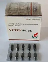 Ginseng with Multi Minerals & Multivitamin Soft Gel, Packaging Type: Box, Capsules