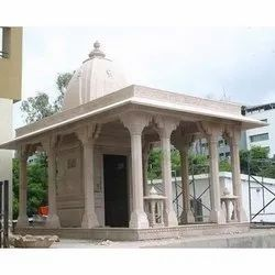 Pink Stone Marble Temple, Size: 12 Ft (height)