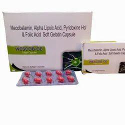 Mecobalamin, Alpha Lipoic Acid, Pyridoxine Hcl And Folic Acid Soft Gelatin Capsule