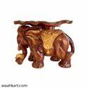 FRP Royal Elephant With Leaf Top