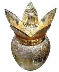 Golden Copper Mandir Brass Kalash, For Worship