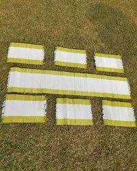 Multicolor Striped Sabai Loom Dining Table Mat 6 1 Runner