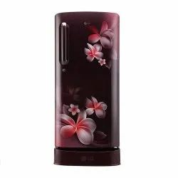 LG 190 litres 4 Star Single Door Refrigerator, Scarlet Plumeria GL-D201ASPY