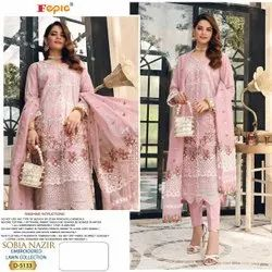 As Show In Image Fepic Presents Sobia Nazir Pure Lawns Pakistani Suits Collection, Size: Free