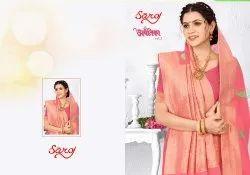 Festive Wear Linen Silk Saree