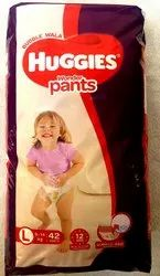 Up To 12 Hours Huggies Wonder Pants Diaper, Size: Large, Packaging Size: 42