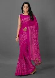 Woman Jute Silk Saree