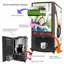 Double Option Coffee And Tea Vending Machine