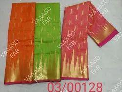 Party Wear Silk Ladies Stylish Designer Saree, With Blouse Piece, 5.5 m (separate blouse piece)