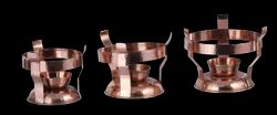 Copper Hammered Finished Angithi/Stand New