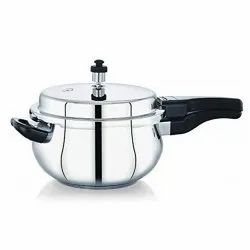 Uptron Gold Stainless Steel Extra Deep SS Pressure Pan Cooker, Capacity: 5 Litre