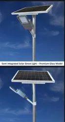 Semi Integrated  Solar Street Light Premium Glass Model