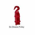 Six Sheave Pulley, Max Capacity: 10 Ton