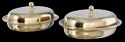 SS Hammered Oval Curry Dishes