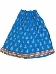 Ladies Rayon Block Print Skirt