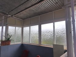 Transparent Plain Glass Aluminium Partition Window, For Home