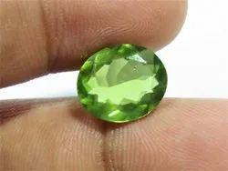 5 Carat + Big Size Peridot Faceted Cut Loose Gemstone