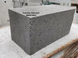 Rectangular 4 Inch Solid Concrete Blocks, For Side Walls