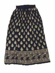Golden Block Printed Skirt