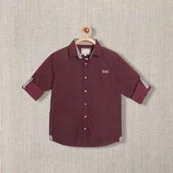 Cotton Shirts & T-Shirts Kids Boy Casual Shirt, Size: 2 To 8 Years