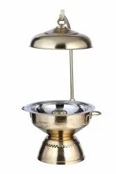 Brass Hammered Neptune Chafing Dish