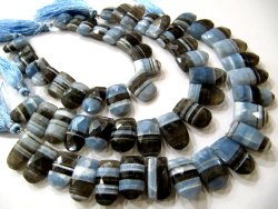 Natural Boulder Opal Cushion Rectangle Shape 12 To 15mm Briolette Beads