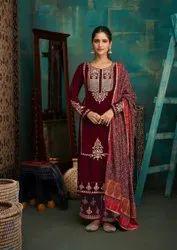 Pure Velvet Unstitched Salwar Suit