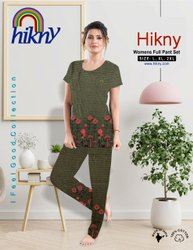 Half Sleeves 8 Colours Night Wear Pyjamas, Size: S M and L, 12 To 16 Years