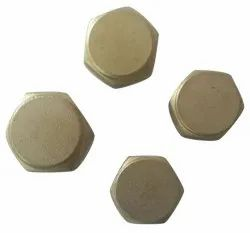 Golden Brass Hex End Cap, For Pipe Fitting, Size: 1/2 Inch (diameter)