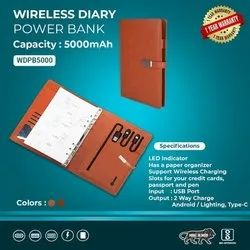 Wireless Diary Power Bank
