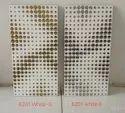Silver glitter wall tiles