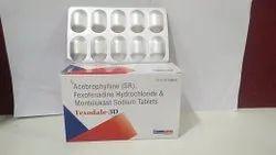 Fexofenadine HCL & Montelukast and Acebro-phyline Tablet