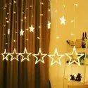 Star Curtain Lights Warm White LED