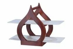 2 Tier Wooden Food Service Diva Stand