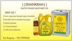SHANKRAH Kachchi Ghani Mustard Oil, Packaging Type: Plastic Bottle