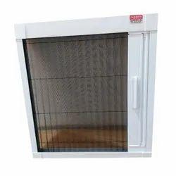 PVC Hinged White Mosquito Net Window